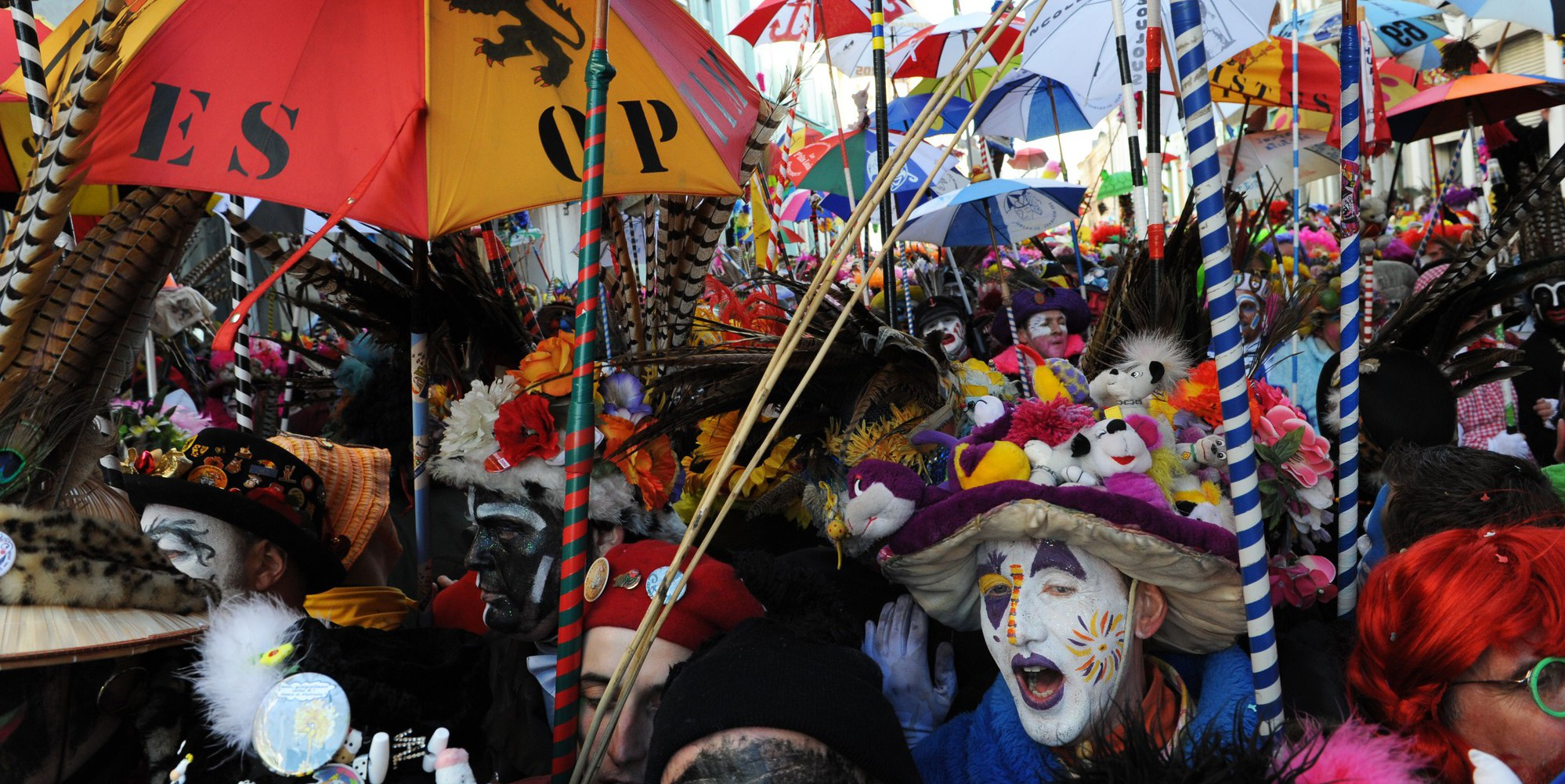 Illustration of the Carnival of Dunkirk (Dunkerque), northern France. The annual carnival began in the 18th century as a special feast before fishermen set sail for the dangerous Icelandic water to catch the lucrative cod./ALCALAYSARAH_1236.0244/Credit:Sarah ALCALAY/SIPA/1601181638